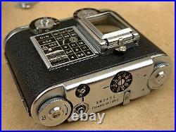 Tessina 35 Black Vintage Subminiature Camera Gorgeous Complete Set