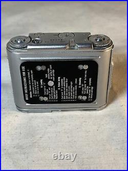 Tessina Automatic 35 Early Serial #64 As Is Subminiature Vintage Camera READ