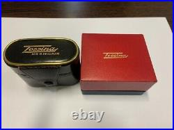 Two Tessina 35, vintage 35mm subminiture cameras, Swiss made, 28 x 52 x 68 mm