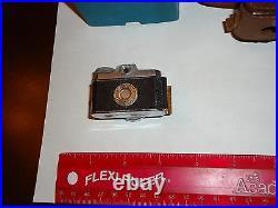 VINTAGE ANTIQUE Okako, Kolt miniature Camera with Leather Case Origional Box