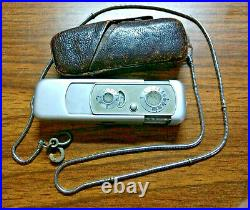 VINTAGE MINOX WETZLAR SUBMINIATURE SPY CAMERA with Leather Case & Chain