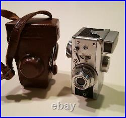 VINTAGE STEKY Model IIIA 16mm SUBMINI CAMERA with CASE EX