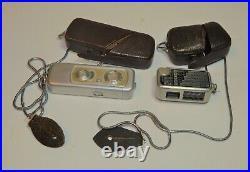 VTG Minox Wetzlar Germany subminiature film camera w lightmeter w cases, chains