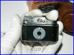 Vintage CRYSTAR CAMERA Mini Spy Camera with Original Leather Case 1960s