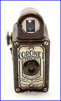 Vintage Coronet Midget Sub-miniature Spy Camera Olive Green Uk Dealer