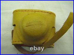 Vintage Crystar Mini Spy Camera Made in Japan withYellow Leather Case Miniature