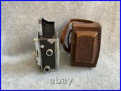 Vintage GEMFLEX Showa Opt. Works Twin Lens Subminiature Camera with Case No. 1032