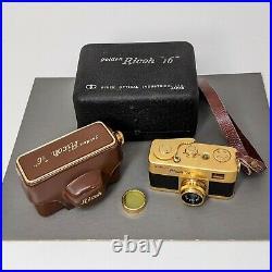 Vintage Golden RICOH 16 Subminiature Film Camera Estate Find