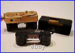 Vintage Golden Ricoh 16 Subminiature Camera Set
