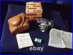 Vintage Homer Sub-miniature Spy Camera Hit Type With Leather case And Film & BOX