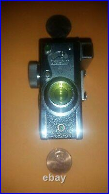 Vintage Japan Steky 16mm Spy Camera withLeather Case Mini/SubMiniature Modl III/3
