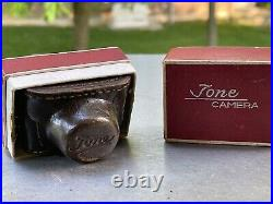 Vintage Minature Japan Silver Tone Anastigma Camera 1949 Made in Occupied Japan
