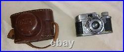 Vintage Miniature Camera RUBIX 16mm Hope Anastigmat 13.5 f25mm w leather case