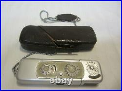 Vintage Minox B Subminiature Spy Camera, Complan 135 F=15 mm. With Case