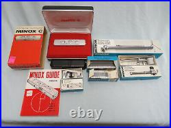 Vintage Minox C Subminiature Spy Camera with Accessories Tripod Viewer Cutter MORE