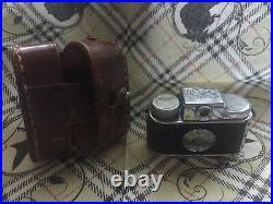 Vintage Mycro Subminiature Spy Camera Leather Case Sanwa Co. Japan film role