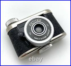 Vintage Petitax Subminiature Spy Camera With Leather Case. Made In Germany, NICE