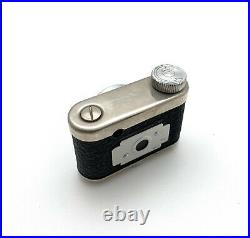 Vintage Petitax Subminiature Spy Camera With Leather Wrap. Made In Germany, Works