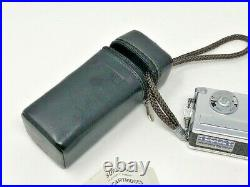Vintage ROLLEI 16 Subminiature Camera with Case & Flash in Case SEE PICS