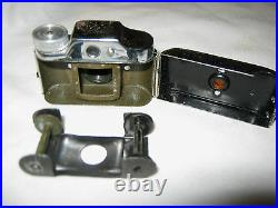 Vintage Retro Japan Miniature Hit Spy Photo Camera Film Box Leather Case Movie