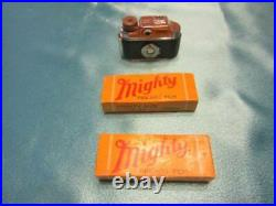 Vintage Toko Mighty Miniature Camera, Box, Carrying Case, 7 Rolls Of Film