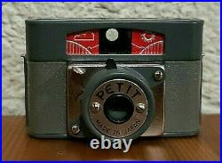 Vtg 60s Subminiature Hit Type 17.5mm Film PETIT Spy Camera & Case Made in Japan