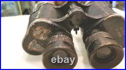WW2 German Artl 10x50 Carl Zeiss Jena Binoculars #5655